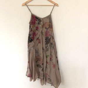 Simply Couture asymmetrical hem sundress floral, M